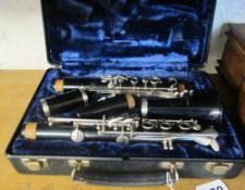 A Bundy Resonite Selmer clarinet (i.c)