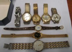 A Benfre gent's watch, Burer watch and other watches