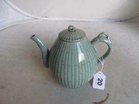A Korean pottery bamboo effect teapot