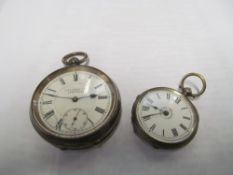 A 935 silver pocket watch and 800 pocket watch