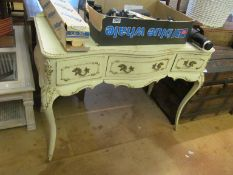 A white painted dressing table