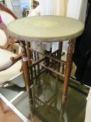 A brass top table