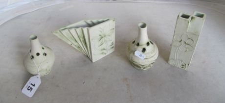 Four Carn pottery vases