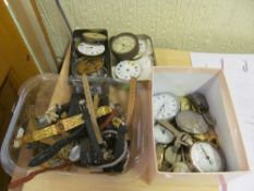 Some pocketwatch parts and watches