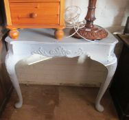 A reproduction console table