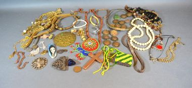 A Collection of Costume Jewellery to include bead necklaces, cufflinks and other items of jewellery