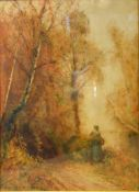 Fred Hines, Summer Glow and Autumn Gold, a pair of watercolours, signed and dated 1878, 55 x 38 cms