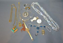 A Small Collection of Jewellery to include two ladies wristwatches, various necklaces