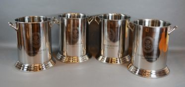 A Set of Four Twin Handled Bottle Coolers inscribed Louis Roederer 24.5cm tall