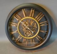 A Circular Wall Clock with roman numerals, 53cm diameter