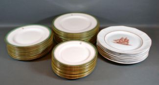 A Set of Twelve Spode Dinner Plates with Initial RL together with a matching set of smaller