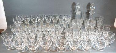 An Extensive Collection of Drinking Glasses by Thomas Webb comprising wine glasses, champagne