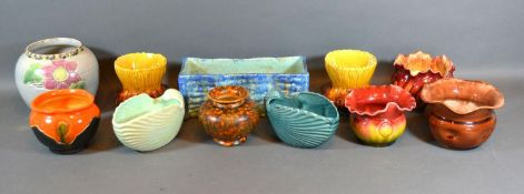A Collection of Bretby Squat Vases