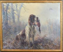 John Charles Tunnard, Frosty Morning, oil on canvas, signed and dated 1949, 34 x 44 cms