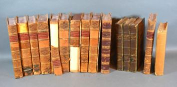 A Small Leather Bound Book Collection to include Colliers Ecclesiastical History