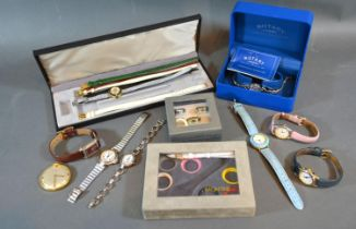 A Bifora Gold Plated Pocket Watch together with a collection of ladies wrist watches to include