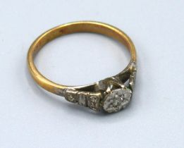 A 9ct. Gold Solitaire Diamond Ring 2 gms. ring size L