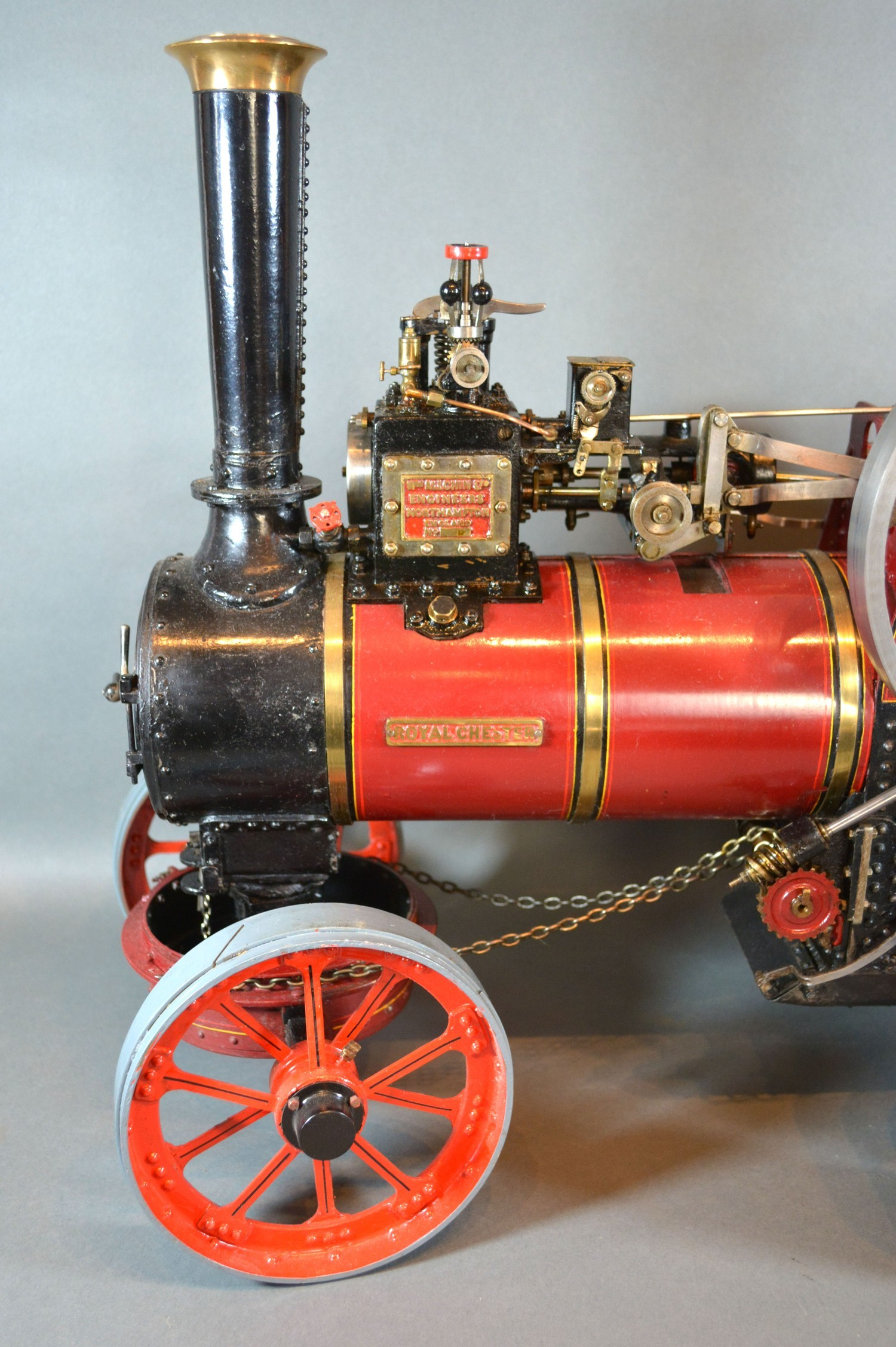 William Allchin, agricultural scale model live steam traction engine, The Royal Chester, 62cms long