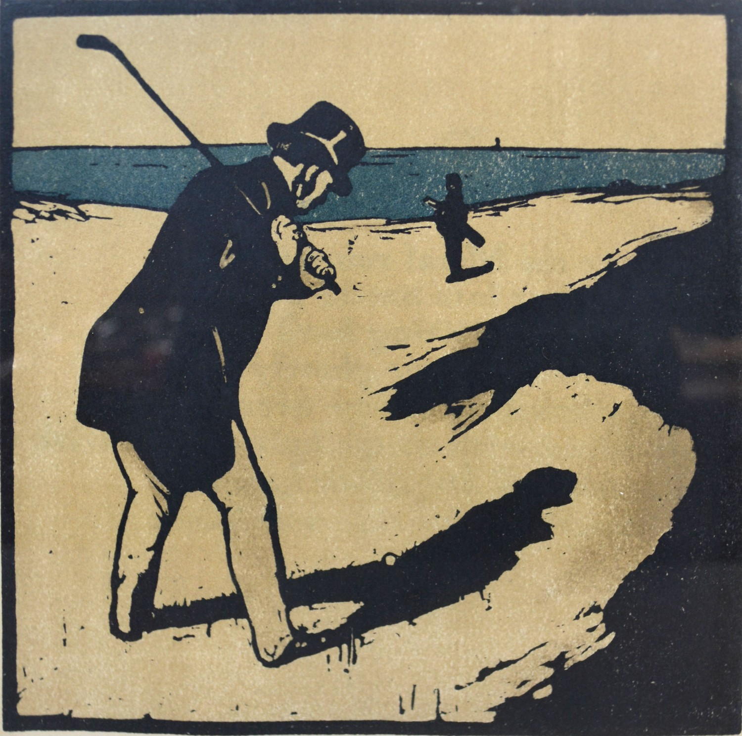Sir William Nicholson A Group of Three Lithographs from The Almanac of Twelve Sports to include Golf - Image 4 of 4