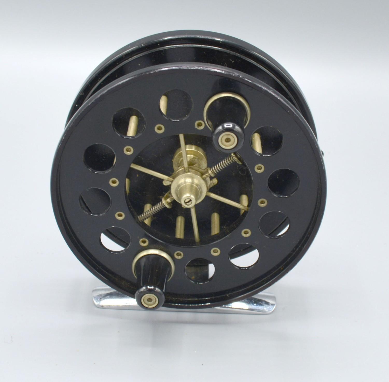 An Allcocks Aerial fishing reel, 9.5cms diameter