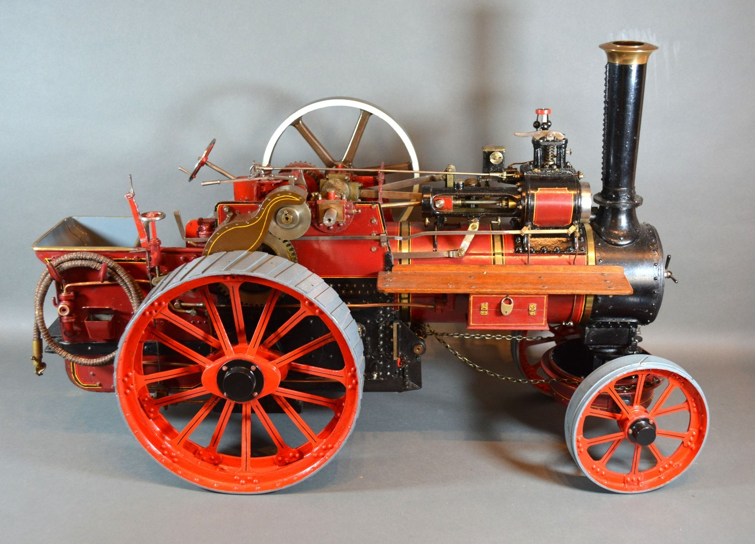 William Allchin, agricultural scale model live steam traction engine, The Royal Chester, 62cms long - Image 4 of 5