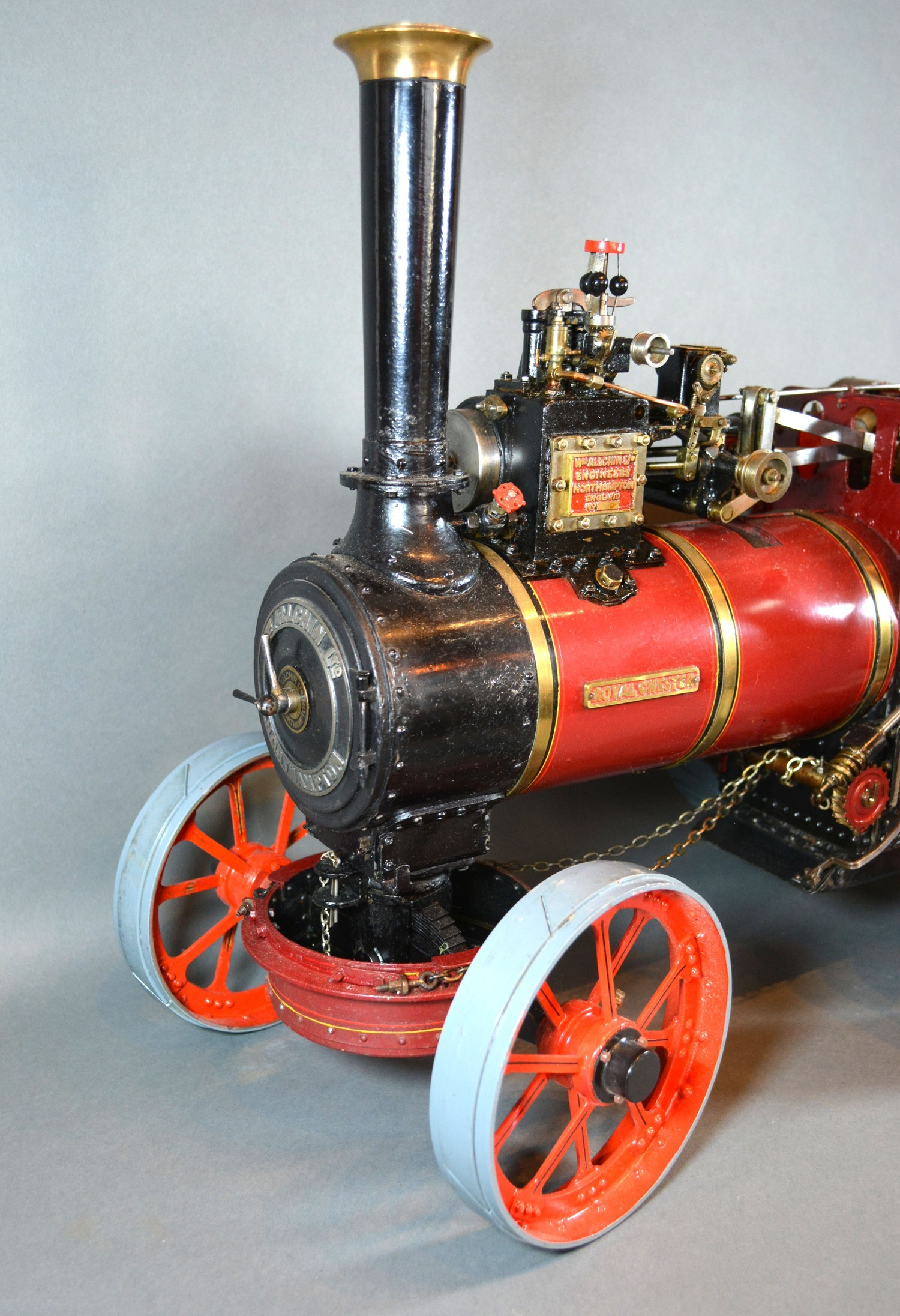 William Allchin, agricultural scale model live steam traction engine, The Royal Chester, 62cms long - Image 2 of 5