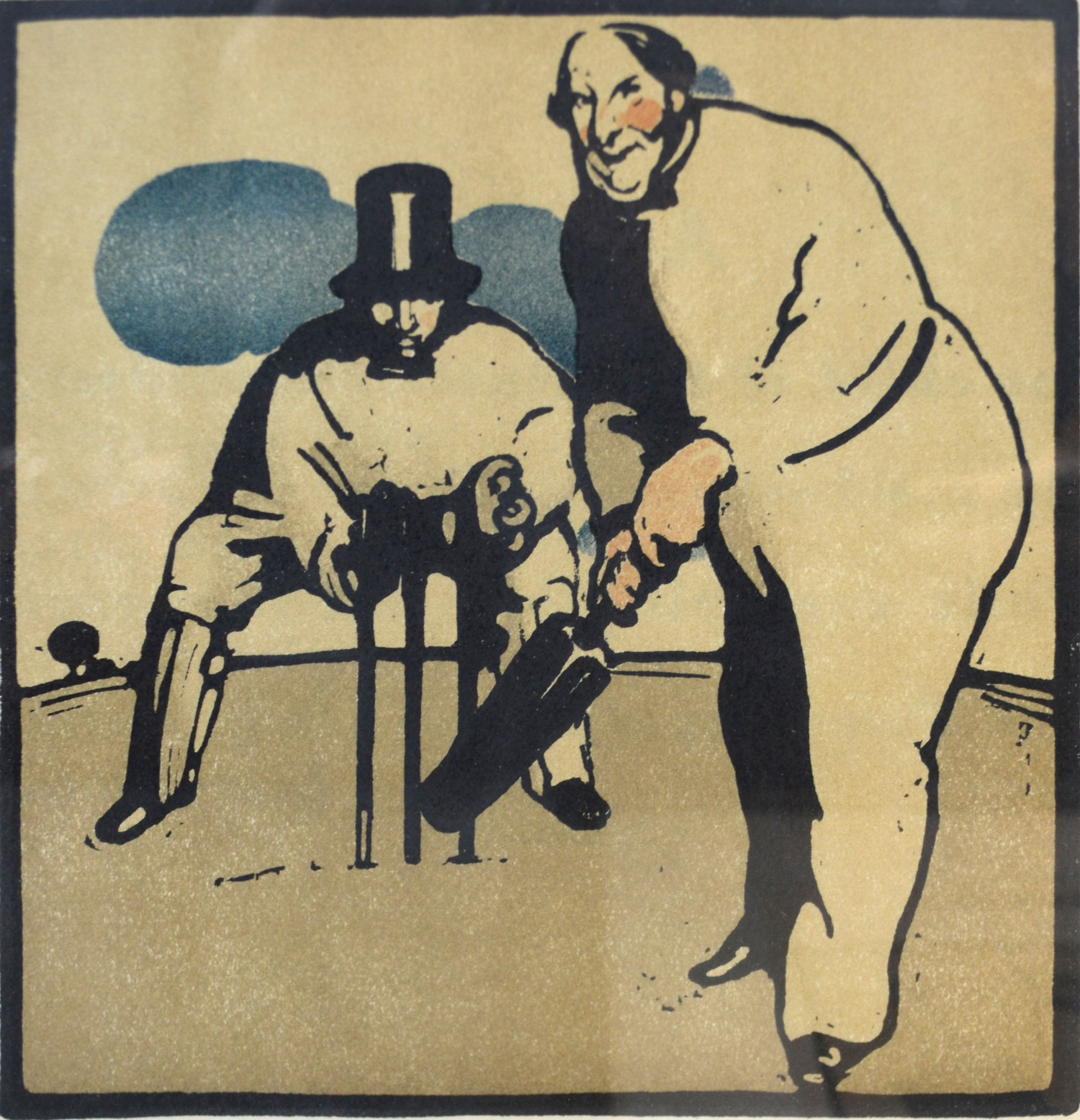 Sir William Nicholson A Group of Three Lithographs from The Almanac of Twelve Sports to include Golf - Image 2 of 4