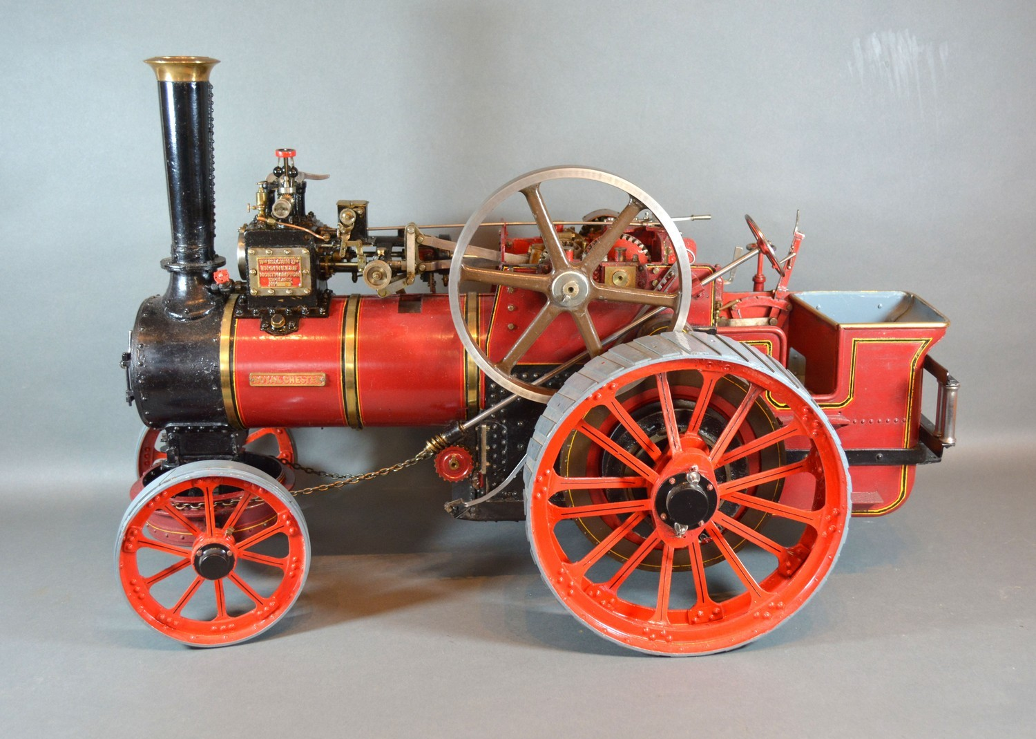 William Allchin, agricultural scale model live steam traction engine, The Royal Chester, 62cms long - Image 5 of 5