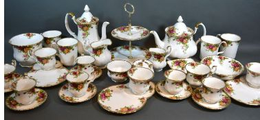 A Royal Albert Old Country Roses pattern part tea and coffee service together with a collection of