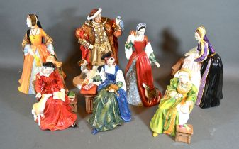 A Royal Doulton 'Henry VIII' HN 3350 together with a Royal Doulton figurine 'Jane Seymour' HN