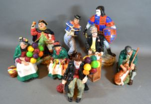 A Royal Doulton Figure 'The Hornpipe' HN 2161 together with another 'Town Cryer' HN 2119 another '