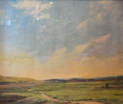 Leslie Kent 'Heath and Sky Wareham' oil on canvas, signed, 49 x 59 cms