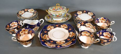 A 19th Century Porcelain Tureen Cover and Stand together with other ceramics to include a Royal