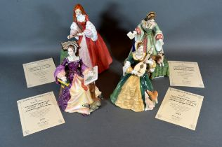 A Royal Doulton Figure 'Margaret Tudor' HN 3838 limited edition 0818 together with another Royal