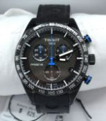 A Tissot PRS 516 Chronograph Wrist Watch with racing style strap complete with original box