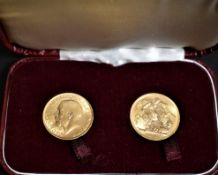 Gold Sovereigns both dated 1915 (2), Both UNC. Boxed (Red)