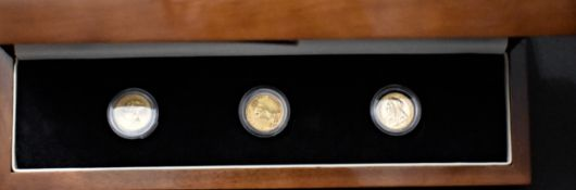 Gold Half Sovereign Set (3) The Three Faces of Victoria with dates 1873, 1887 and 1900. Boxed set