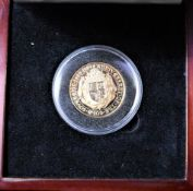 Gold 1989 Double Sovereign Proof £2, only 2000 Minted, Royal Mint Boxed with Certificate.