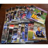 Chelsea FC Programmes, Nov 05-Feb 2006 (Season 2005-06), including Anderlecht RSCA Magazine Carton