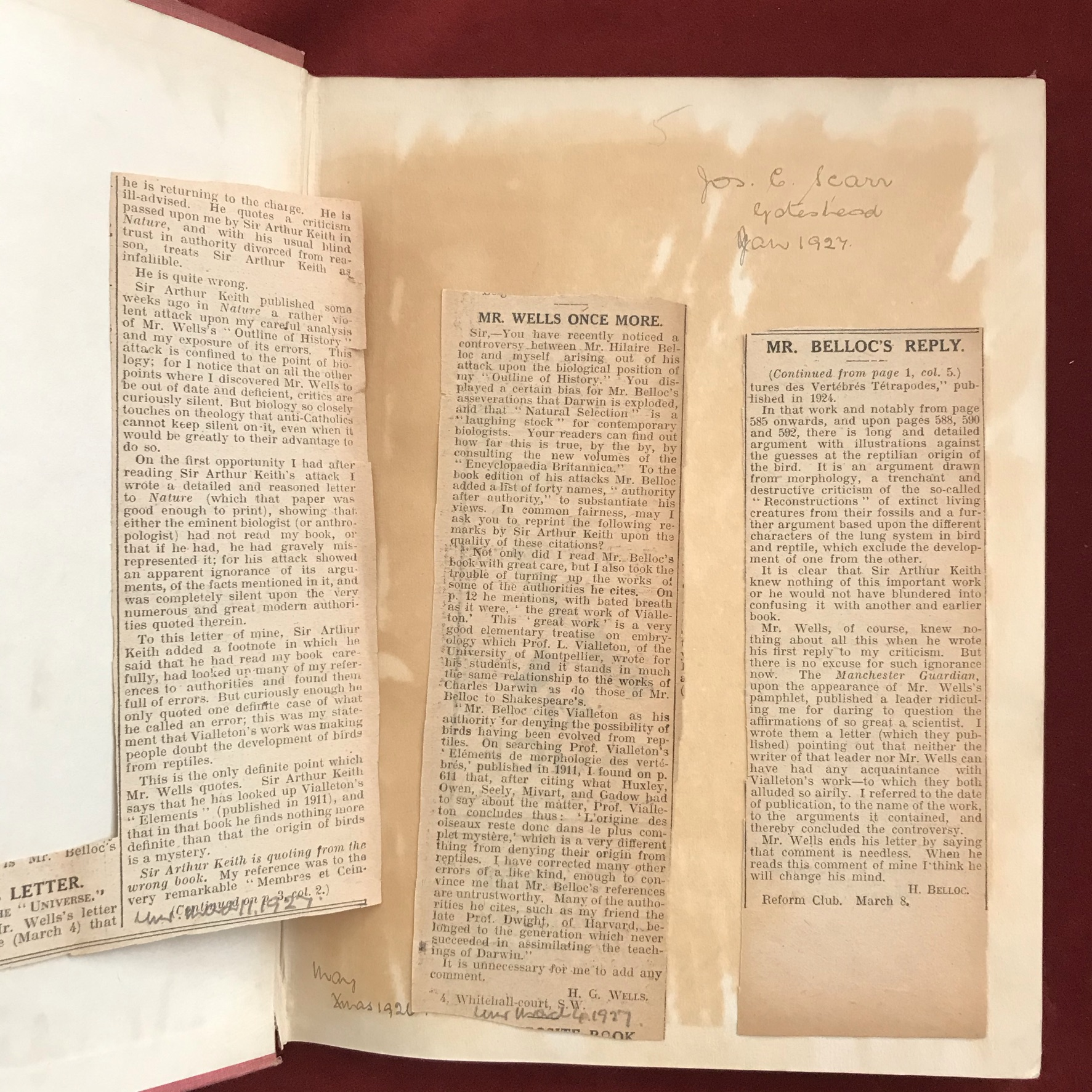 Mr. Belloc Objects to the Outline of HistoryFirst edition, very good condition, together withA - Image 2 of 2