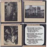 The Story of the Bible and Religious Magic Lantern Slides (20) black and white slides including: