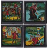 Robin Hood Magic Lantern Coloured Lantern Slides (Complete set of 12 with 2 extra spares) ROBIN HOOD