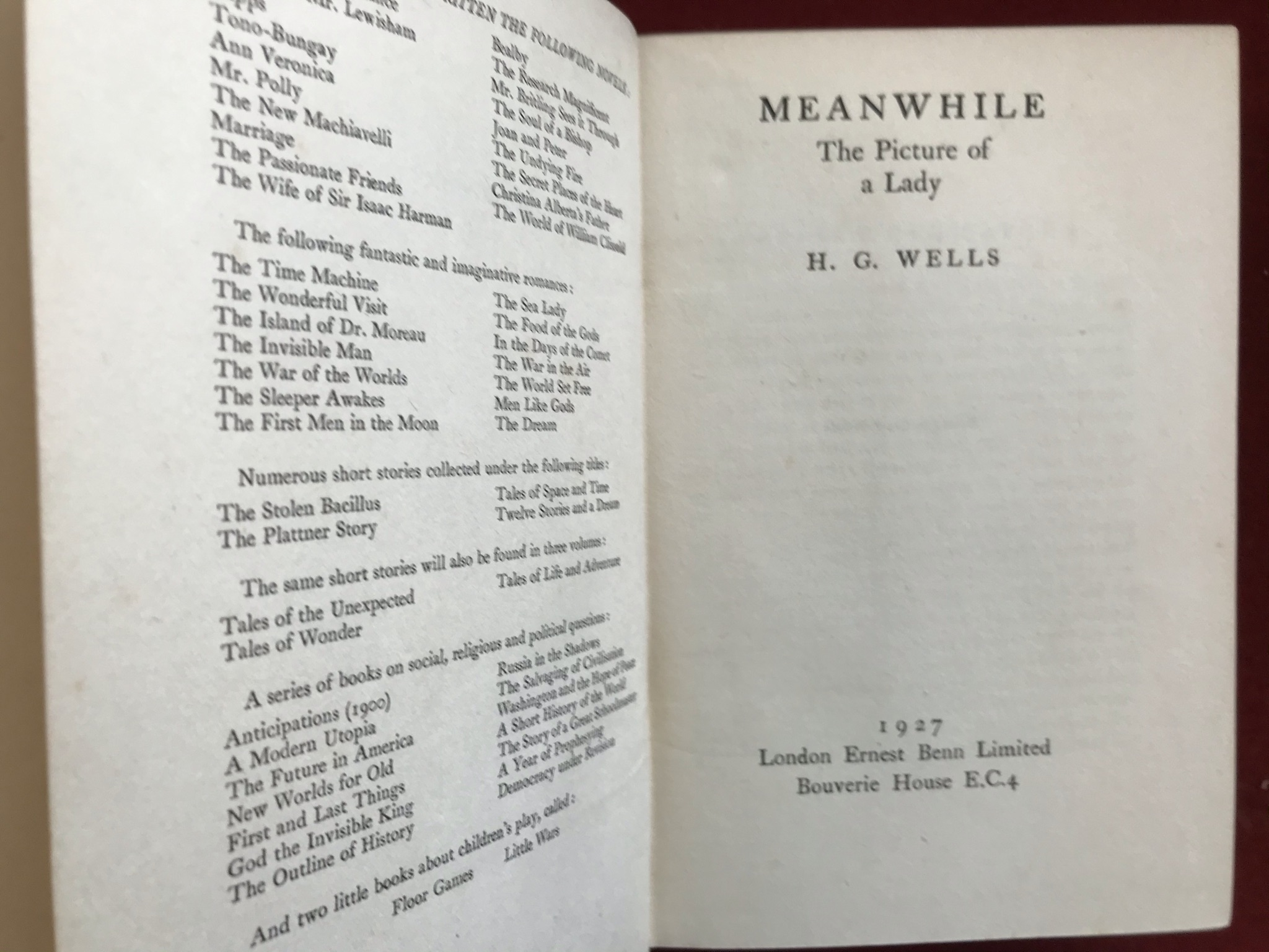 Meanwhile: The Picture of a LadyFirst edition, 1927 - Image 2 of 3