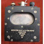 """British WWII detonator detector inscribed """"Detector Q x I. A.T.P. (WA 0275) G.B. & Co Ltd, No2439"""