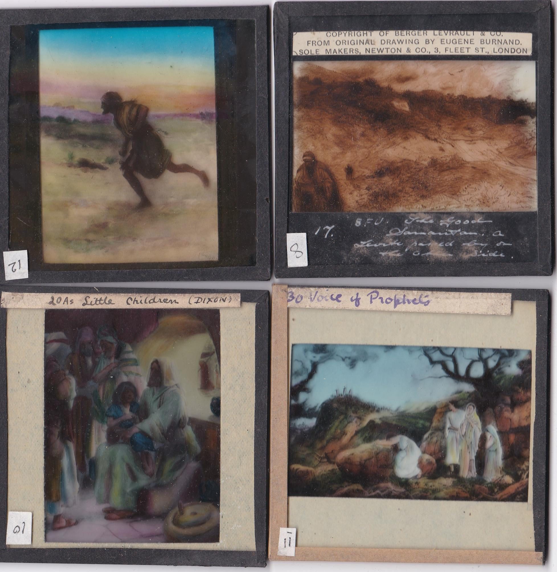 Religious Magic Lantern Slides (12) colour slides including: Joseph's Father in Egypt, Moses, The - Image 2 of 3