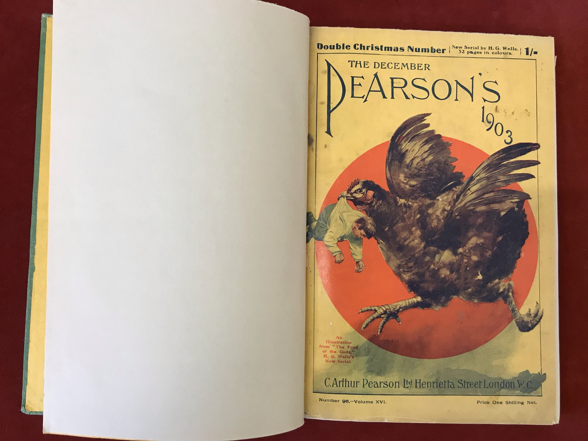 The Food of the Godsby H.G. Wells, modern binding of original Pearson's Magazine serialisation - Image 3 of 3