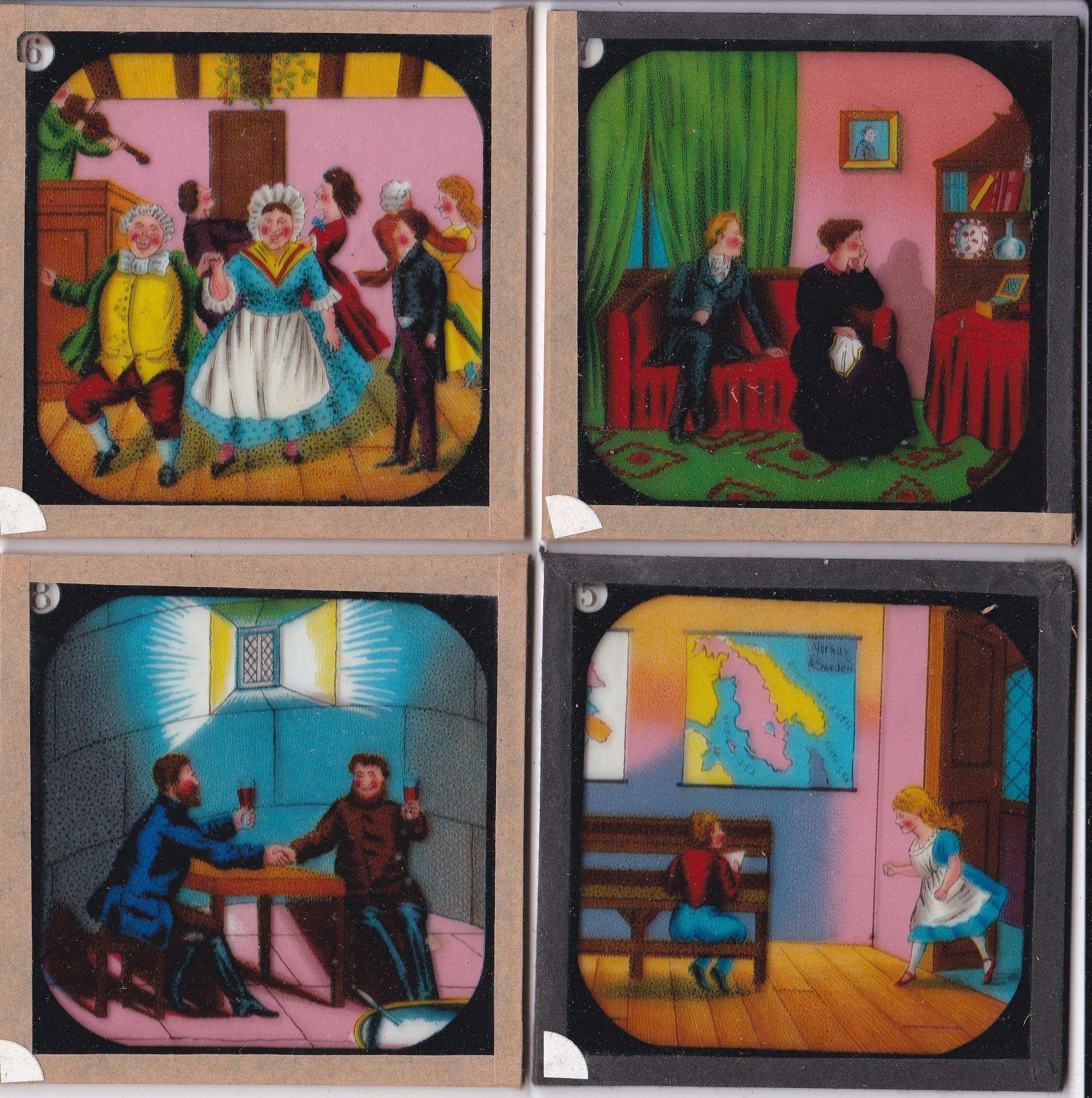 "Christmas Carol Magic Lantern Slides (complete set of 12), the ""Indcol"" Coloured Optical Lantern - Image 3 of 4"