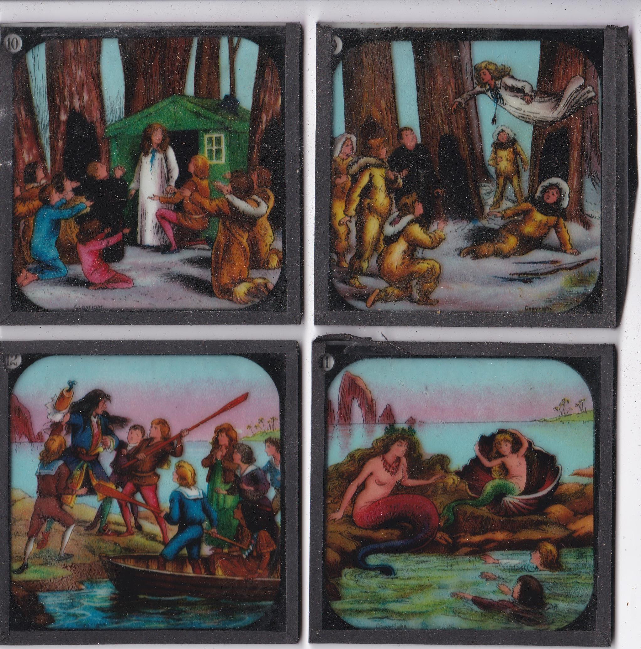 Peter Pan Magic Lantern Coloured slides, Primus Junior Lecturers series Peter Pan Magic Lantern - Image 2 of 4