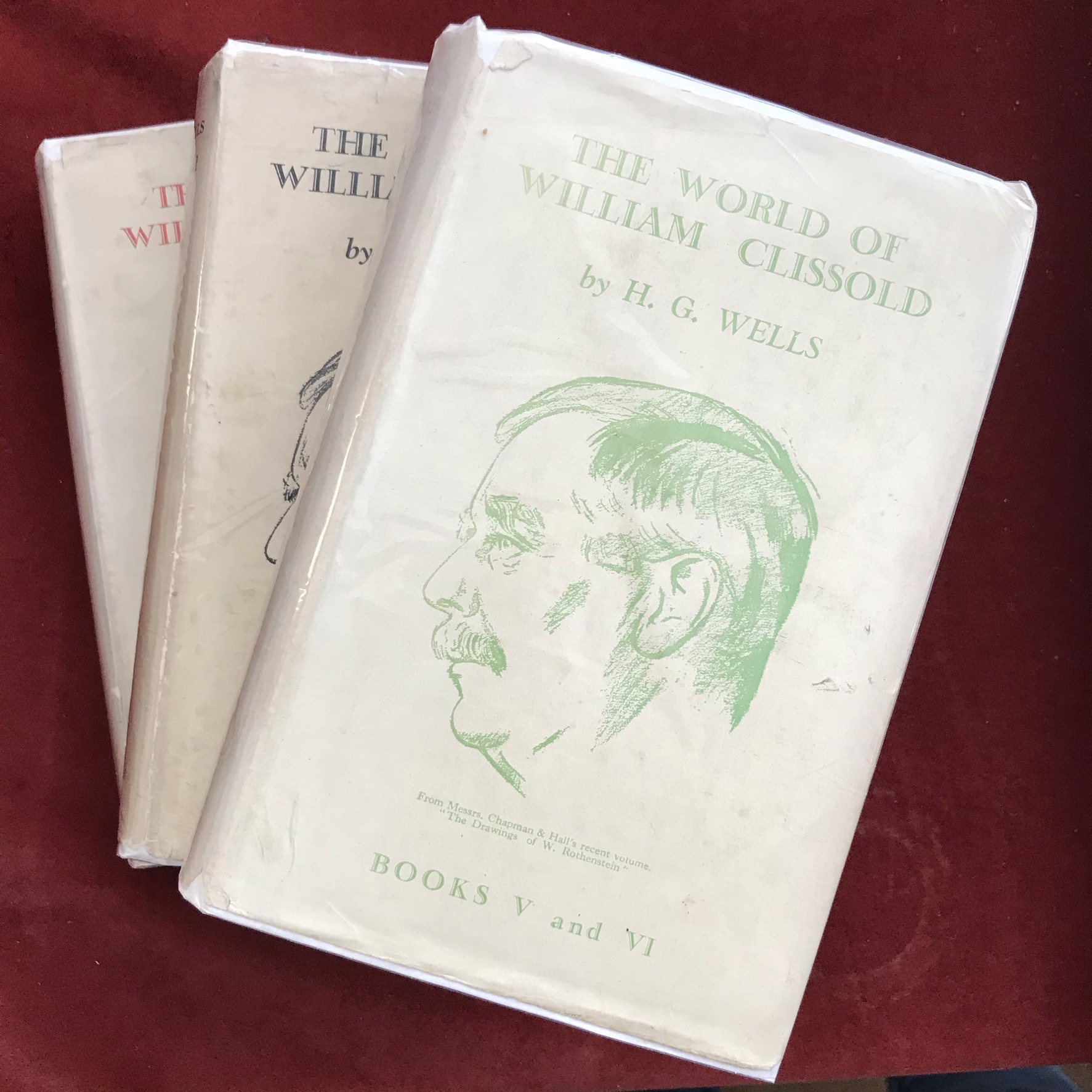 The World of William Clissold 3 volumesFirst edition with D/W, one volume with faded spine,