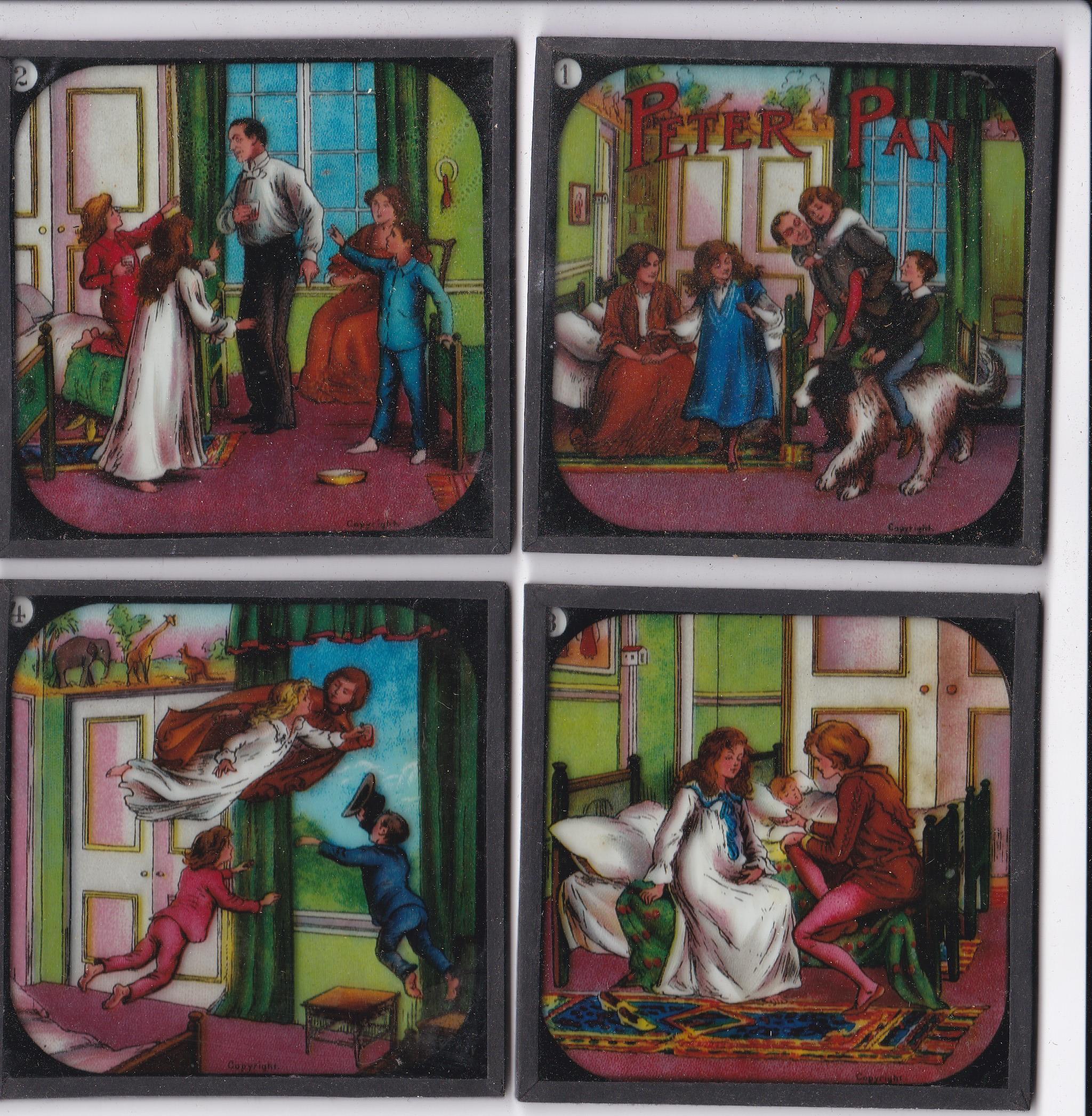 Peter Pan Magic Lantern Coloured slides, Primus Junior Lecturers series Peter Pan Magic Lantern - Image 3 of 4